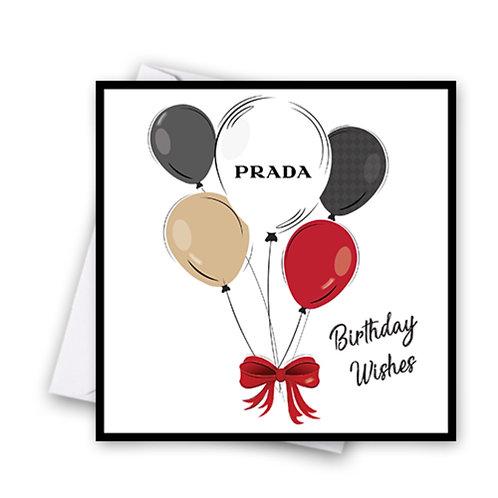 Prada Balloon Card