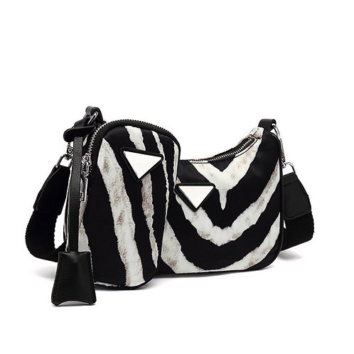 Zebra Multi Pouch Bag