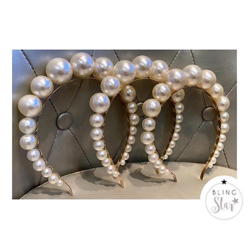 Oversized Pearl Bubble Headband