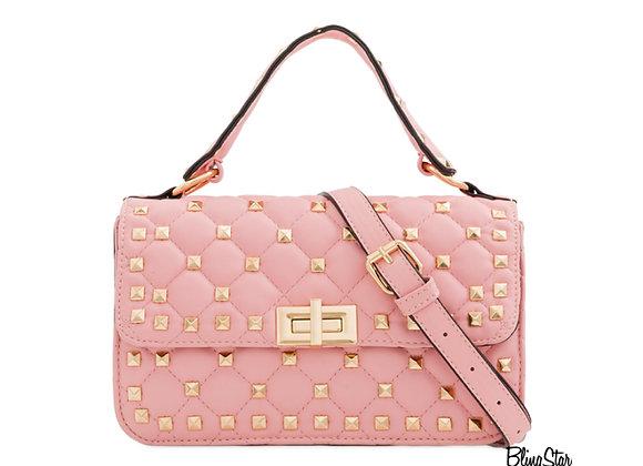 Billie Studded Messenger Pink