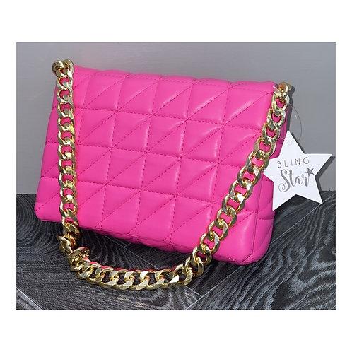 Triangle Stitch Messenger Pink