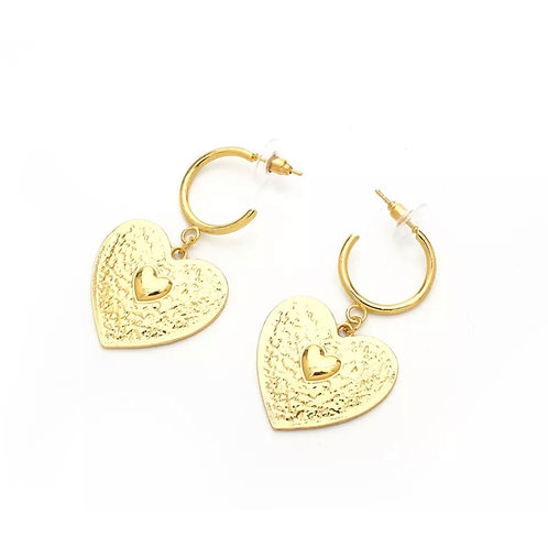 Dreamer Heart Hoops Small