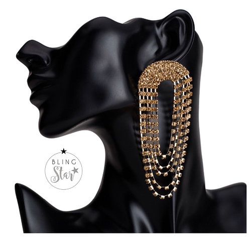 Sienna Diamond Loops Gold