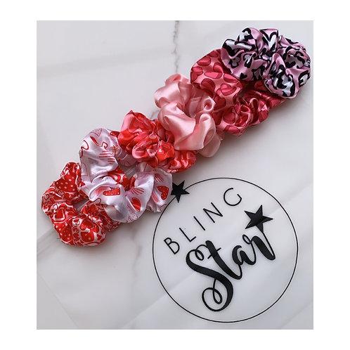 Pink Valentines Scrunchie Collection
