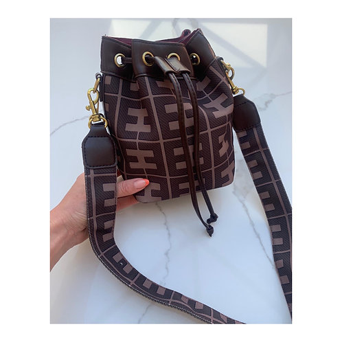 Kyra Brown Bucket Bag