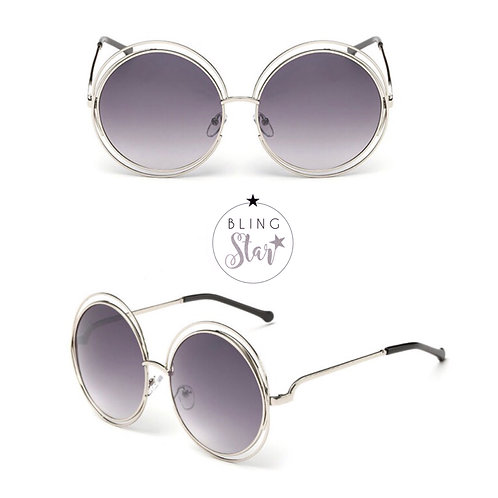 Mollie Round Sunglasses Grey