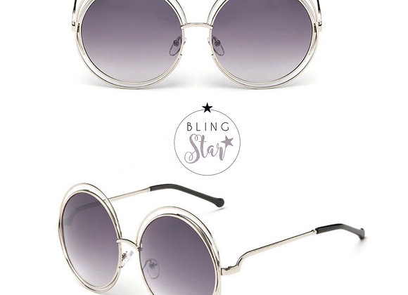 Mollie Round Sunglasses Grey