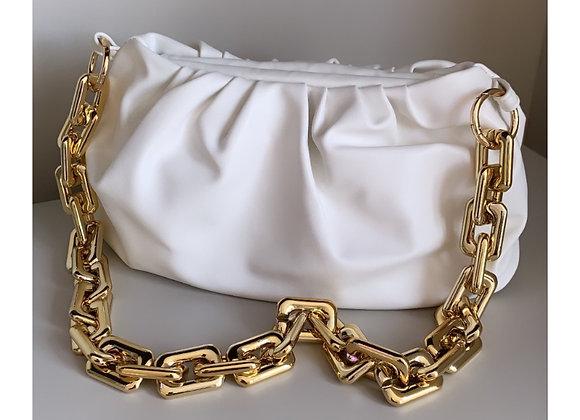 Loretta Chain Bag White