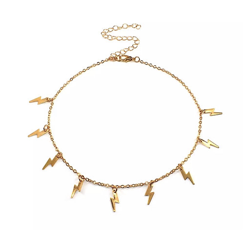 Lightening Chocker Gold