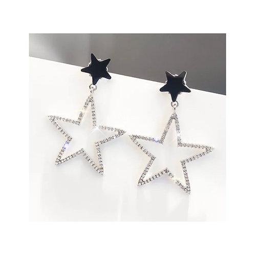Cute 5 Point Stars Silver