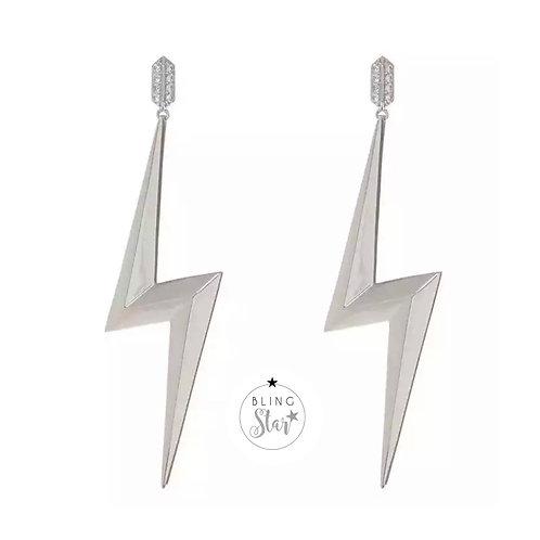 Lightening Earrings Silver