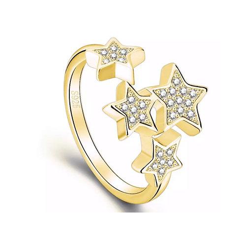 Little Star Ring (Resizable) Gold