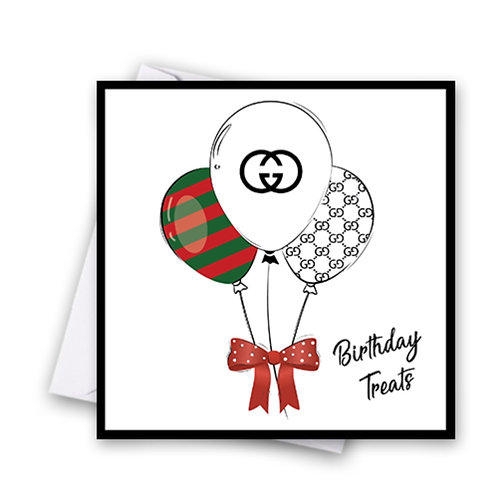 Gucci Balloon Card