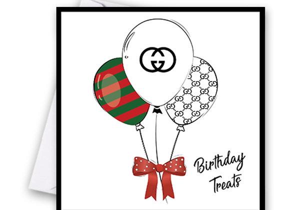 Gucci Balloon Card