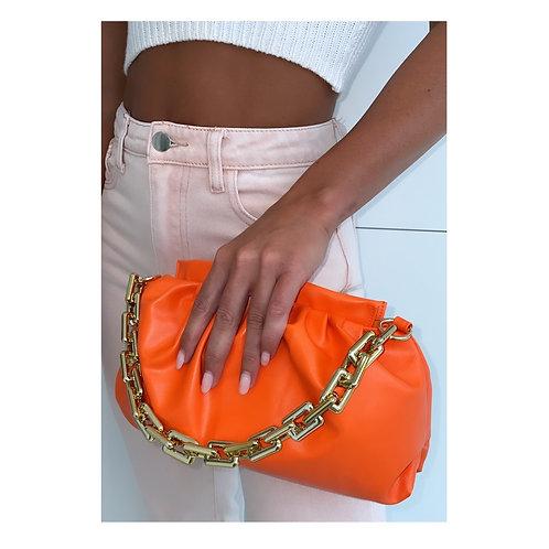 Lucy Orange Pouch