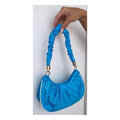 Sports Luxe Ruffle Hangbag Blue