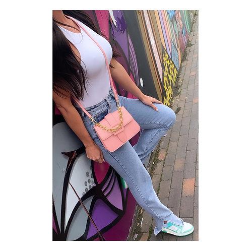 Buckle Mini Handbag Pink