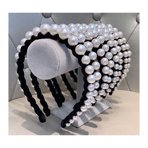 Luxe Velvet Pearl Headband