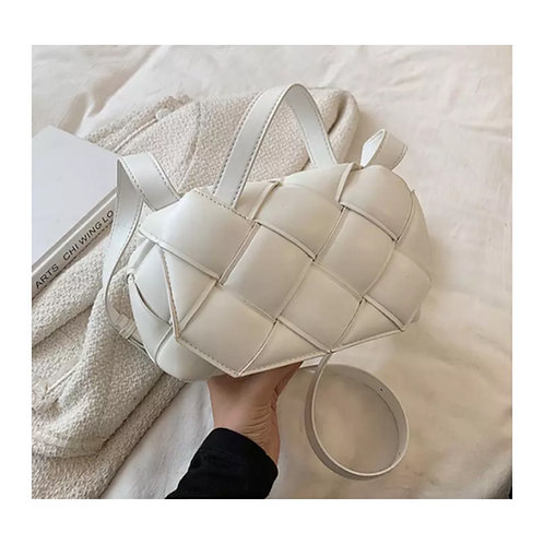 Grace Woven Bag White