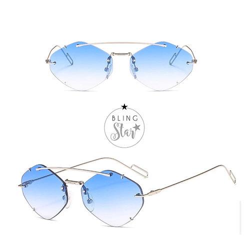 Colorado Oval Sunglasses Blue