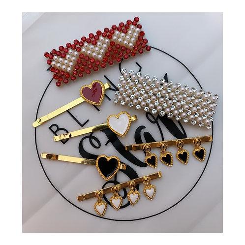 Valentines Hair Slide Set