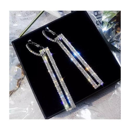 Diana Diamanté Earrings Silver