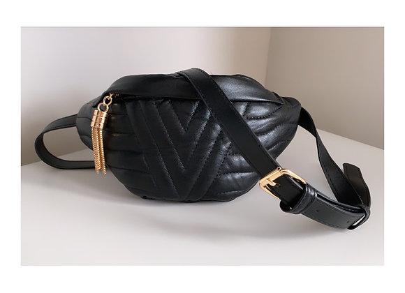 Stella Tassel Belt Bag Black