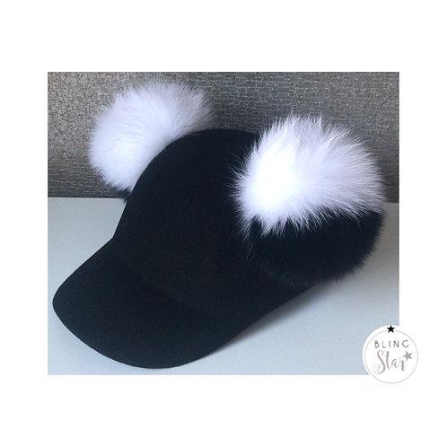 Black & White Double Minnie Cap