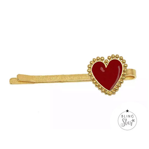 The Amour Collection Heart Slide Red