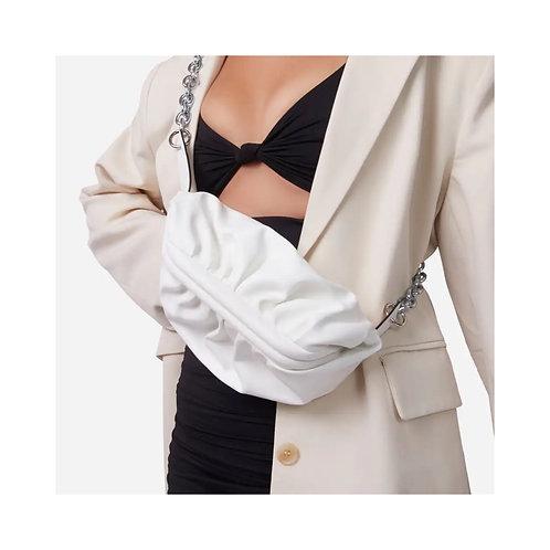 Chunky Chain Across Body Bag White