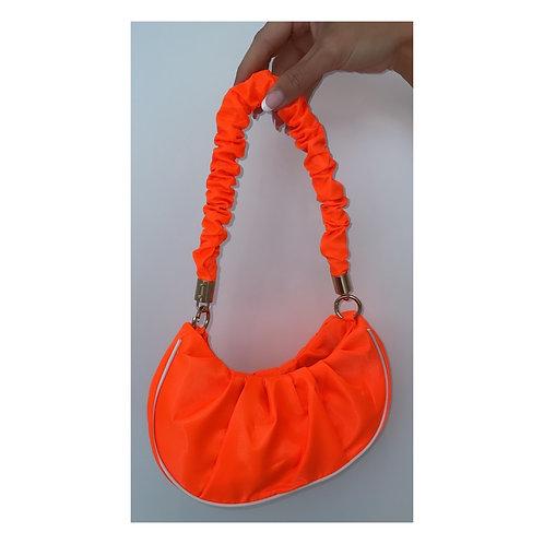 Sports Luxe Ruffle Handbag Orange