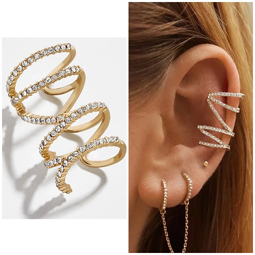 Diamond Ear Wrap Cuff