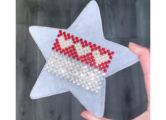 Diaz Diamanté Heart Set Red