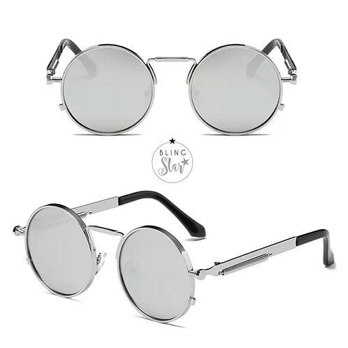 Capri Round Sunglasses Silver