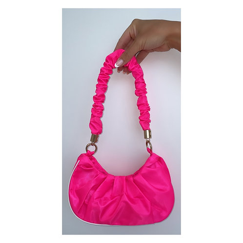 Sports Luxe Ruffle Handbag Pink