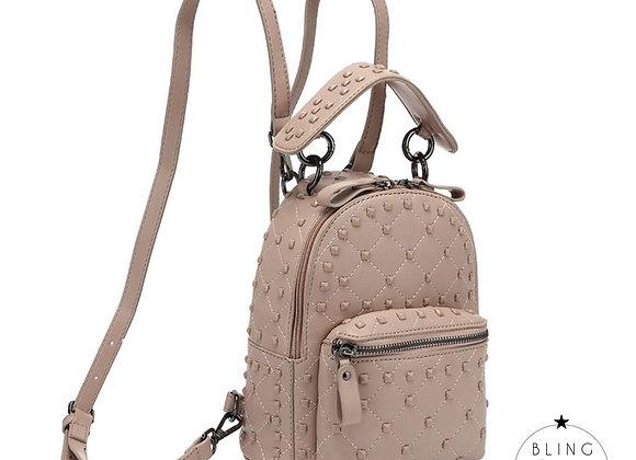 Venice Studded Backpack Pink