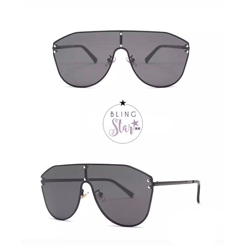 Fiji Oversized Aviators Black
