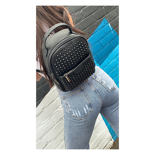 Phantom Studded Backpack Black