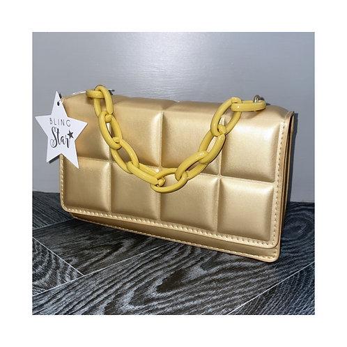 Mini Cube Messenger Gold