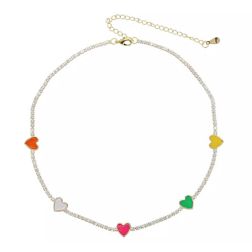 Luxe Candy Heart Necklace