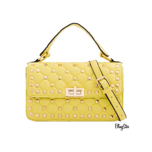 Billie Studded Messenger Yellow