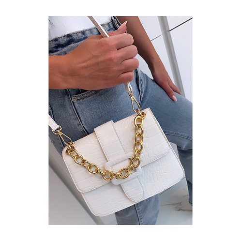 Buckle Mini Handbag White