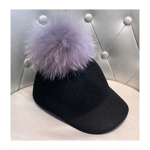 Black & Natural Grey Minnie Cap