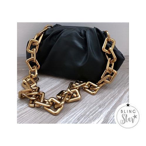 Loretta Chunky Chain Pouch Black