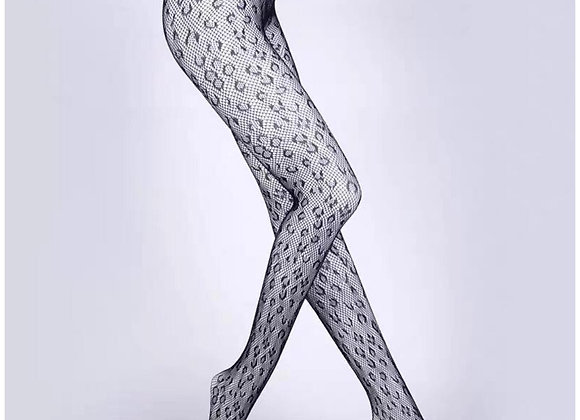 Leopard Fish Net Tights