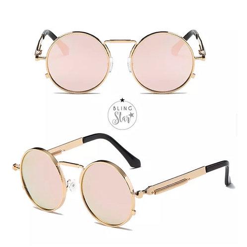 Capri Round Sunglasses Rose Gold
