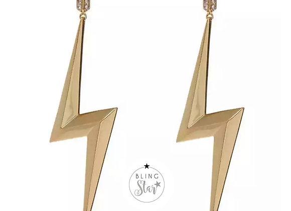 Lightening Earrings Gold