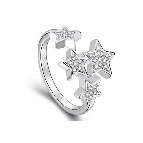 Little Star Ring (Resizable) Silver