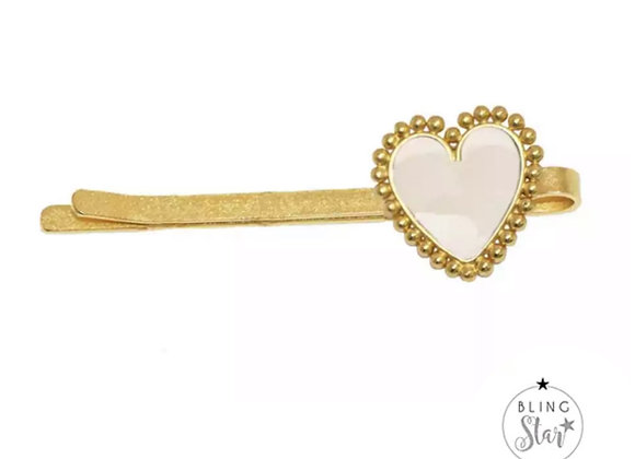 The Amour Collection Heart Slide White