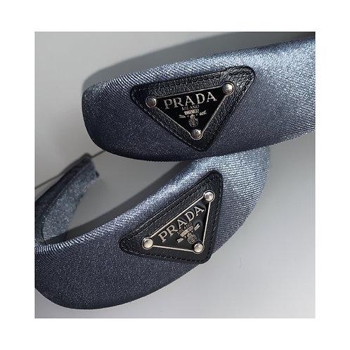 Triangle Headband Grey Velvet